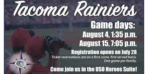 JBLM EFMP Sunday Game Time - Tacoma Rainiers, USO Heroes Suite