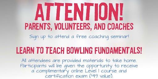 FREE USA Bowling Coach Certification Seminar - North Bowl, Spokane, WA