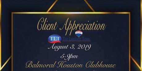 Mashell Lambert /Client Appreciation  tickets