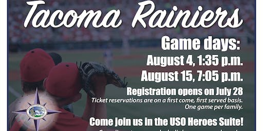 JBLM EFMP Thursday Game Time - Tacoma Rainiers, USO Heroes Suite