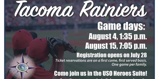 JBLM EFMP Thursday Game Time - Tacoma Rainiers, USO Heroes Suite