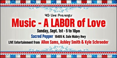 4G Live Presents:  Music - A LABOR of Love tickets