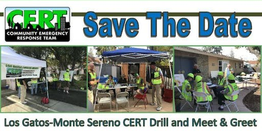 2019 Los Gatos-Monte Sereno CERT Drill and Meet & Greet