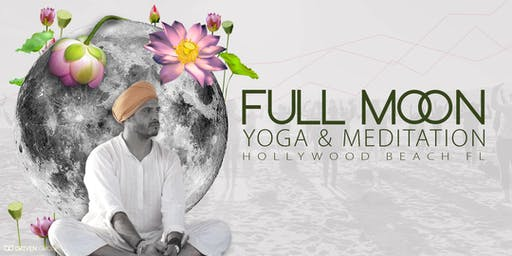 Full Moon Yoga & Meditation on Hollywood Beach July 16