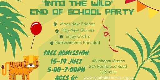 """Into The Wild"" End of School Year Party"