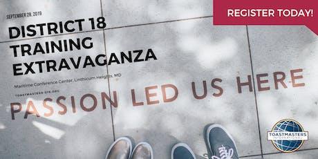 District 18 Training Extravaganza 2019 tickets