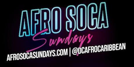SUN:Afro Soca Sundays FREE ENTRY $5 RumPunch|Suya|$15 Hookah|$10 Jack & Bacardi) tickets