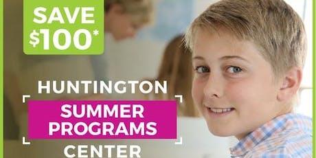 SUMMER TUTORING PROGRAM AT HUNTINGTON LEARNING CENTER, D.C. tickets