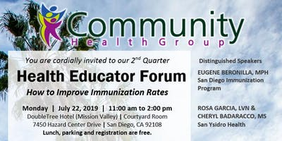 2019 2nd Quarter CHG Health Educator Forum
