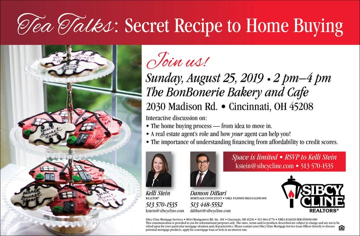 Secret Recipe to Home Buying Registration, Sun, Aug 25, 2019 at 2:00