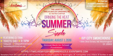 """Twelve Days of Christmas, Inc.  DC Metro Chapter - 2019 Bringing the Heat """"Summer Sizzle"""" tickets"""