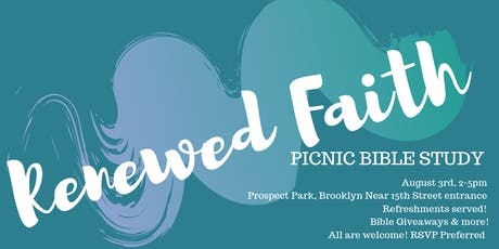 Renewed Faith - Bible Study Picnic  tickets