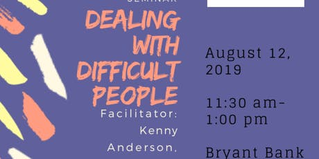 Dealing with Difficult People tickets