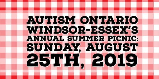Autism Ontario Windsor Essex Summer Picnic 2019