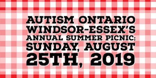 Autism Ontario Windsor Essex Summer Picnic 2019