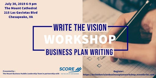 Write The Vision - Business Plan Writing Workshop