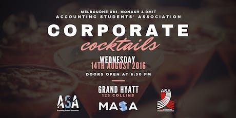 ASA, MASA & RMIT ASA Present: Corporate Cocktails 2019 tickets