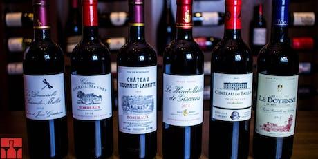 Degustação harmonizada - Bordeaux ingressos