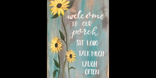 Welcome to Our Porch on Wood