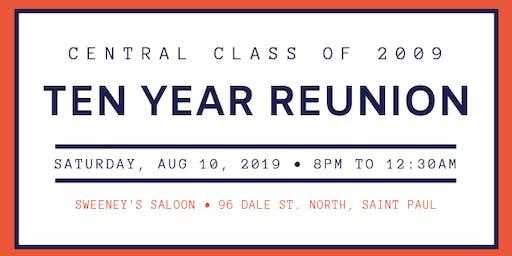 Central Class of 2009 Ten Year Reunion