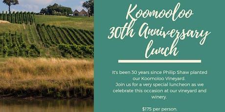 Koomooloo 30th Anniversary Lunch tickets