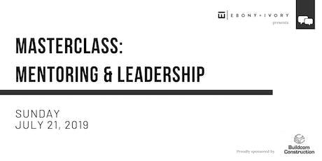 Masterclass: Mentoring & Leadership tickets