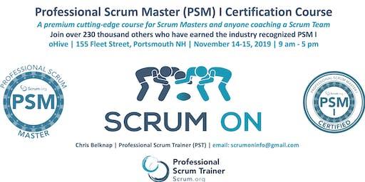 Scrum.org Professional Scrum Master (PSM) I - Portsmouth NH  - Nov 14-15, 2019