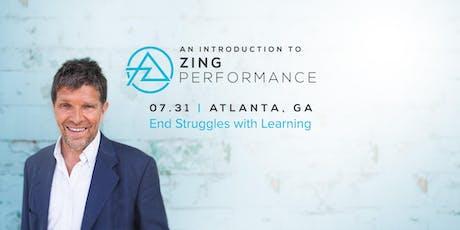 Atlanta, GA - Zing Performance Introduction tickets