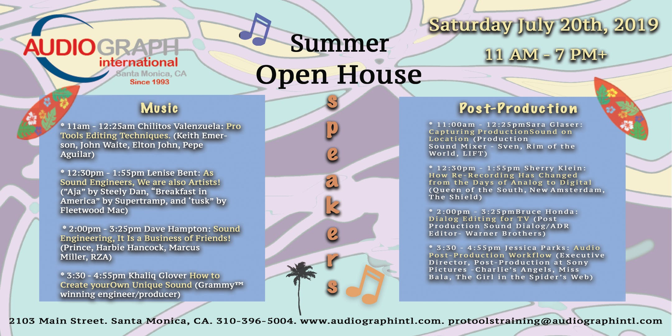 Agi S Summer Open House 20 Jul 2019 Never miss another show from marcus parks. evensi