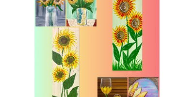 """Adult Open Paint (18yrs+) """"Anything Sunflowers"""""""