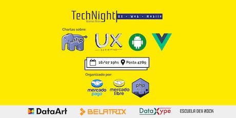 TechNight: UX + Web + Mobile | MercadoLibre entradas