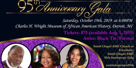 Smith Chapel AME Church - Inkster MI 95th Anniversary Gala tickets