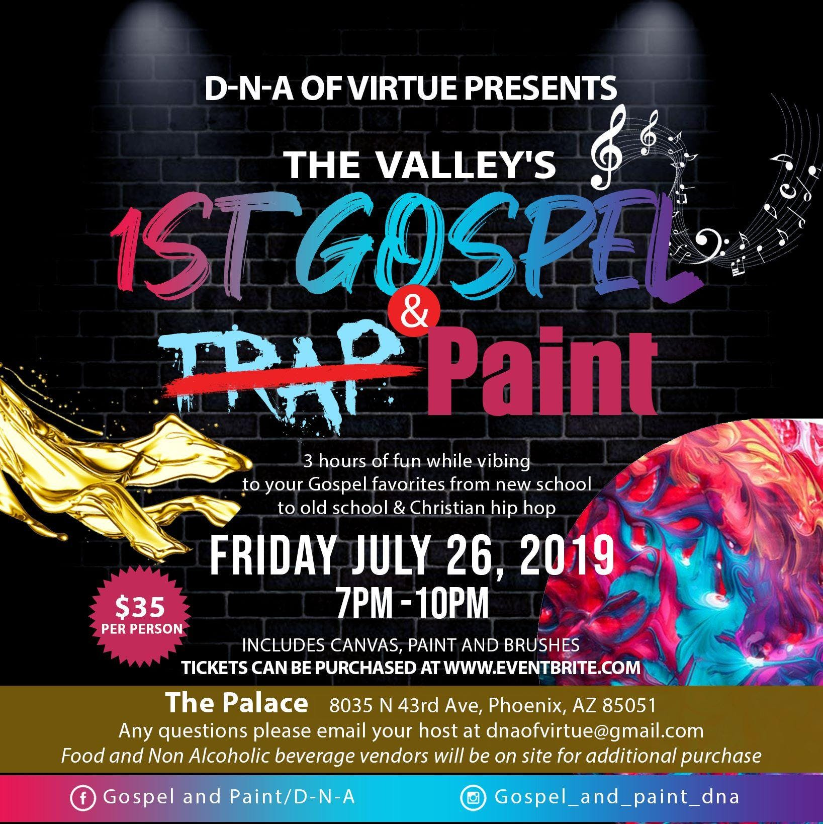 Gospel and paint