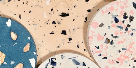 Terrazzo recycled mussel shell coaster making workshop tickets