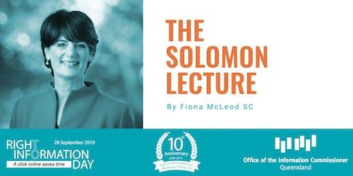 The Solomon Lecture