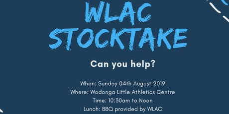 Stocktake at Wodonga Little Athletics tickets
