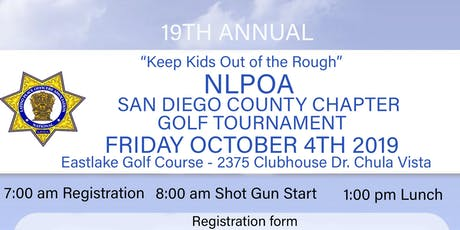 "19th Annual ""Keep Kids Out of the Rough"" NLPOA San Diego County Chapter Golf Tournament  tickets"
