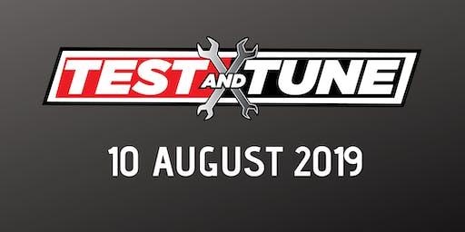 Test & Tune 10 August 2019