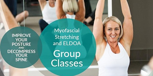 Monday 5.30pm Myofascial stretching and ELDOA Group classes