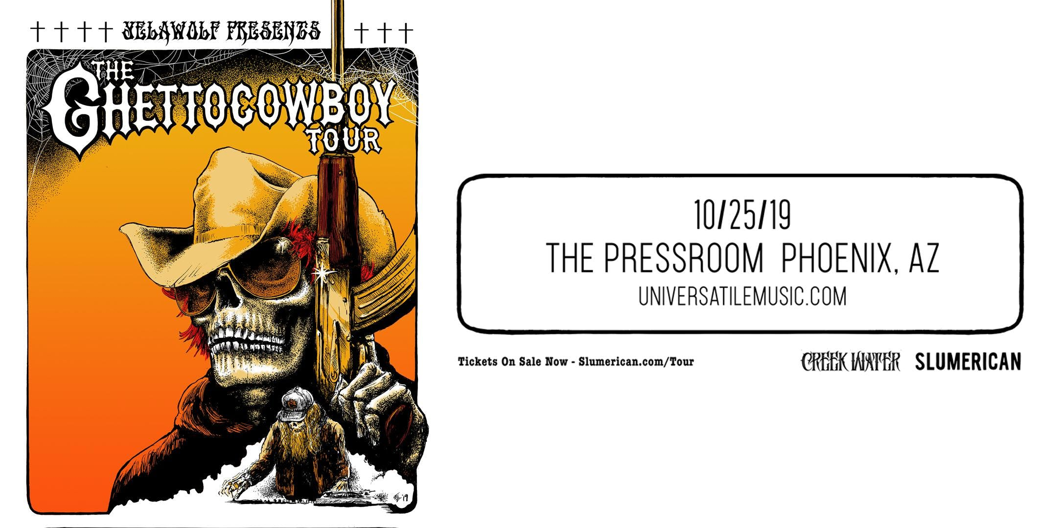 Yelawolf w/ Special Guests The Outfit, TX & Wild The Coyote and Badd Wolf @ The Pressroom