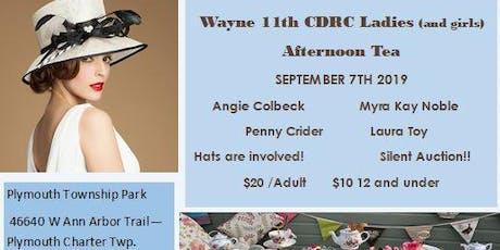 Wayne 11th CDRC Ladies Afternoon Tea tickets