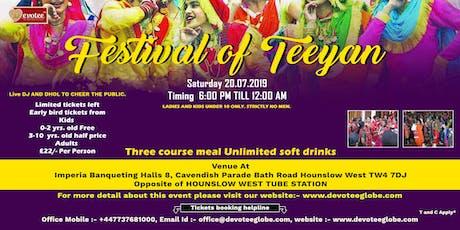 Festival of Teeyan tickets