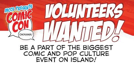 2019 - Volunteer at Comic Con tickets