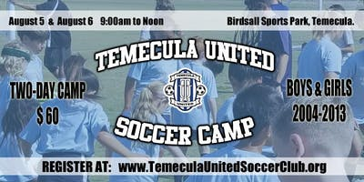 Temecula United Soccer Camp