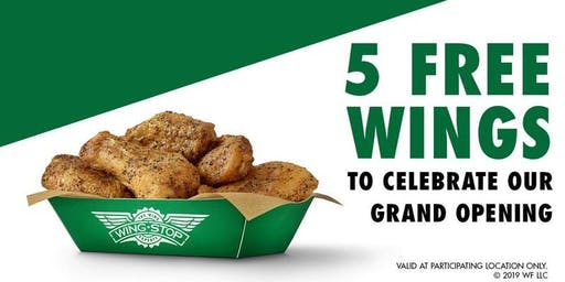 Wingstop FREE WINGS Grand Opening Party in Garland