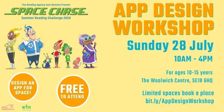Space Chase App Design Workshop tickets