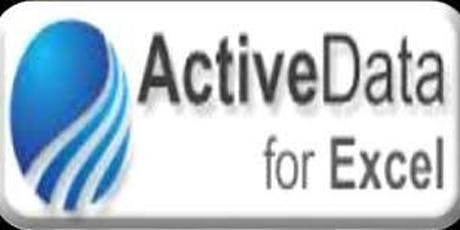 Activedata for Excel (E-AUDIT) tickets