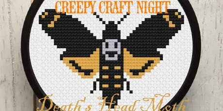 Creepy Craft Night - Death's Head Moth Cross Stitch tickets