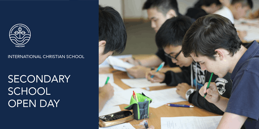 ICS Secondary School Open Day - October 3, 2019 (8:30 AM)