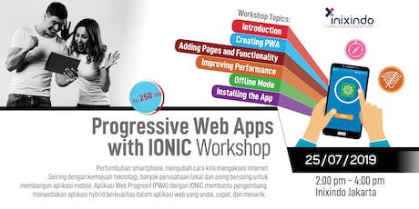 [PAID] Workshop Progressive Web Apps with IONIC tickets